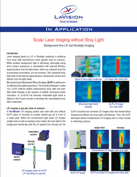 Scalar Laser Imaging without Stray Light